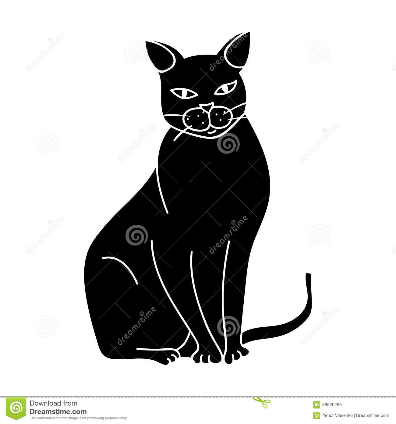Chartreux Icon In Black Style Isolated White Background Cat
