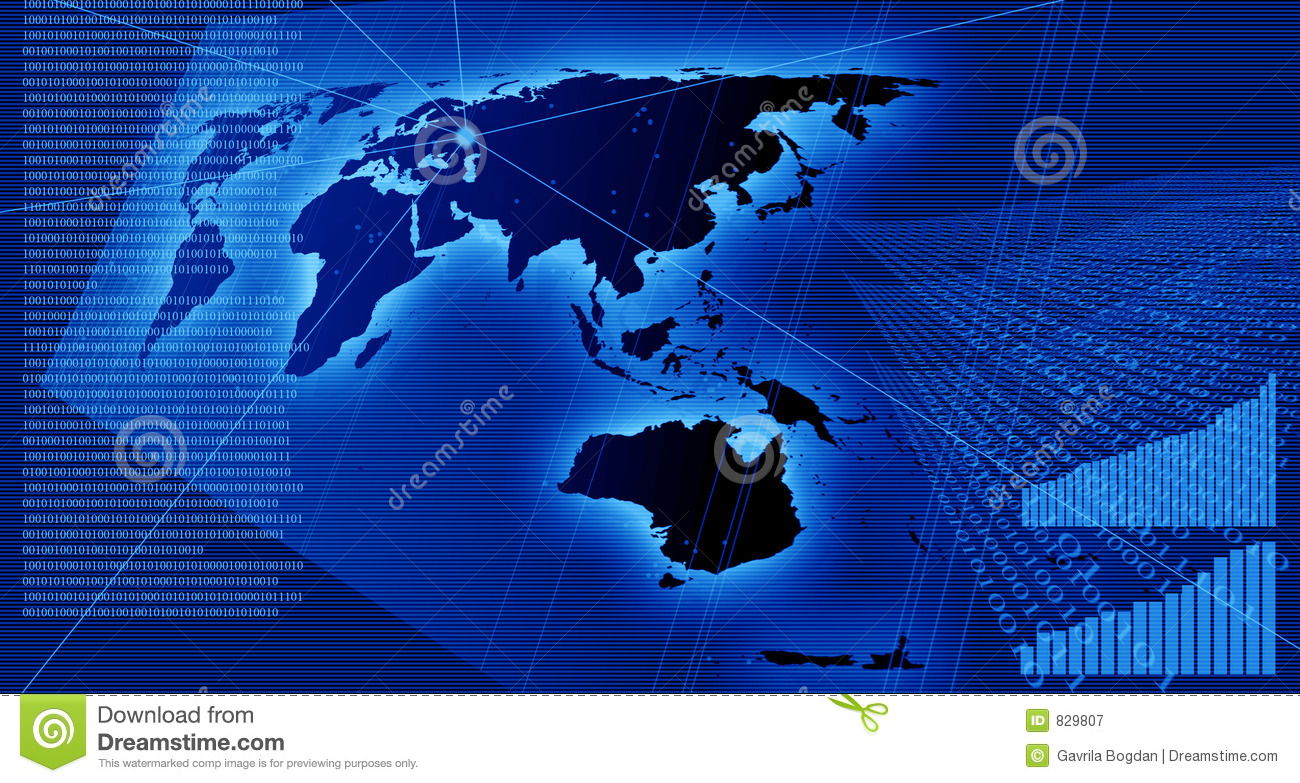 Charts And Data On The World Map Stock Illustration Image - World map data