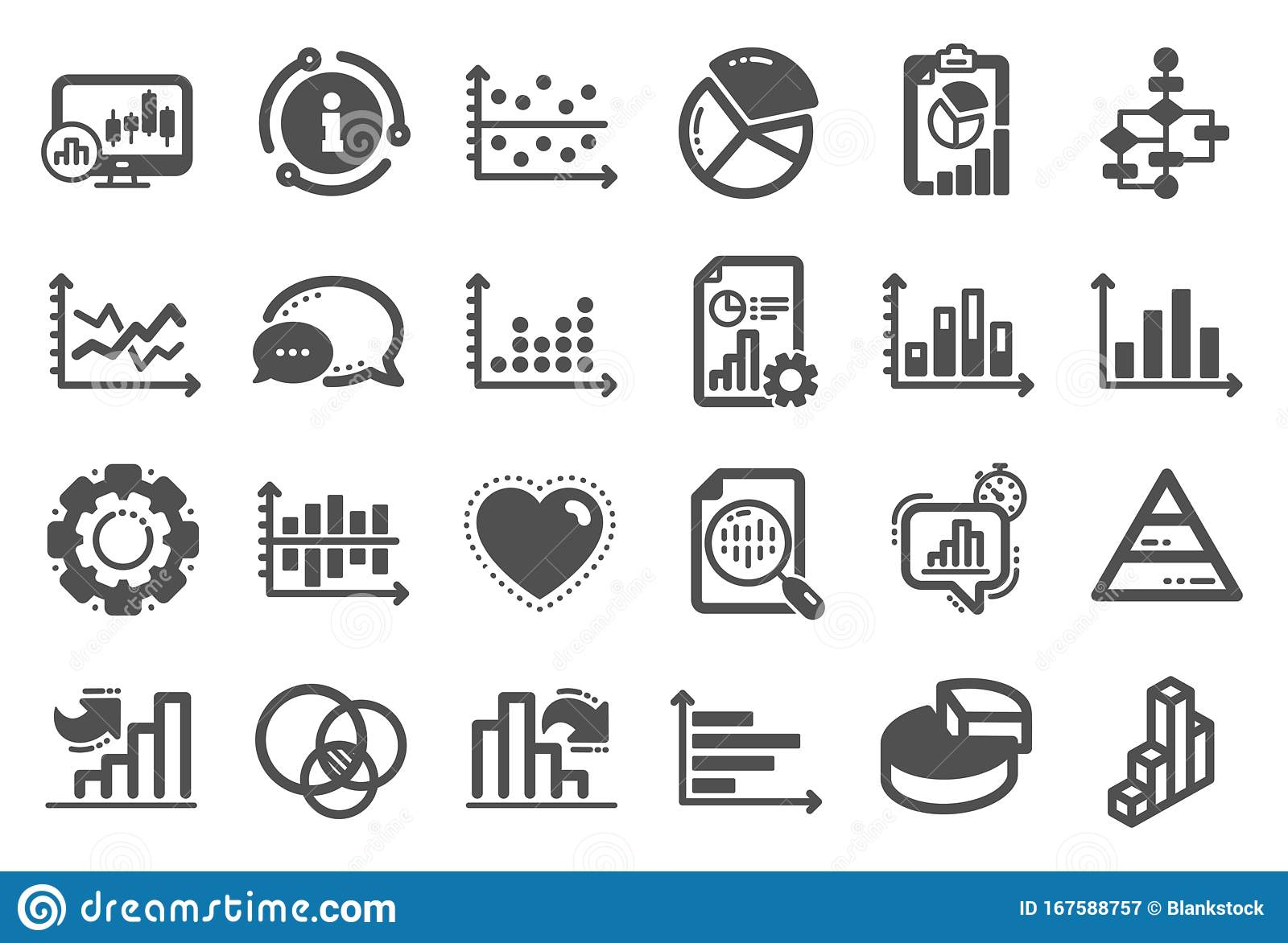 Charts And Diagrams Icons. Set Of 3D Chart [ 1172 x 1600 Pixel ]
