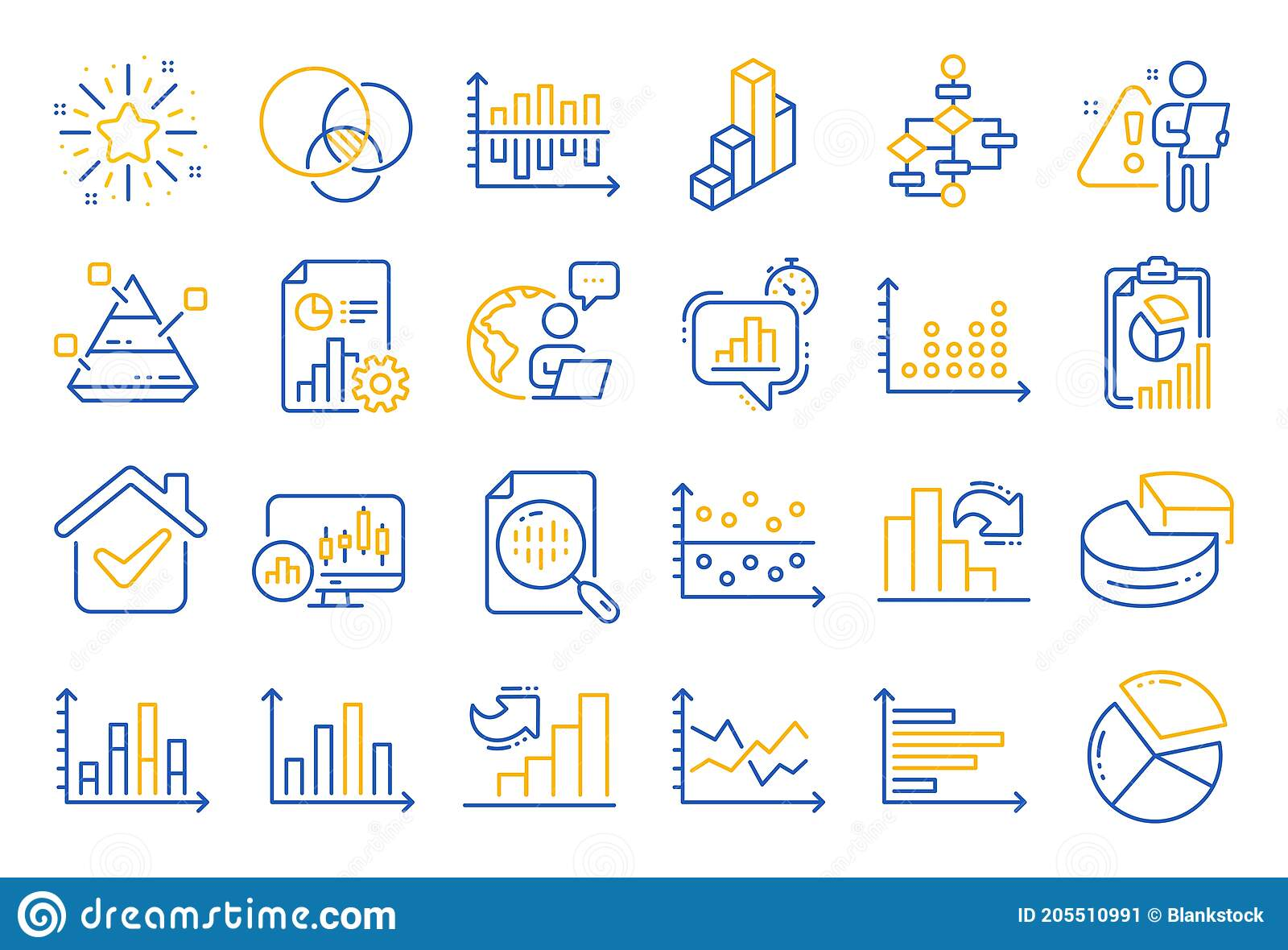 Charts And Diagrams Line Icons. Set Of 3D Chart [ 1180 x 1600 Pixel ]