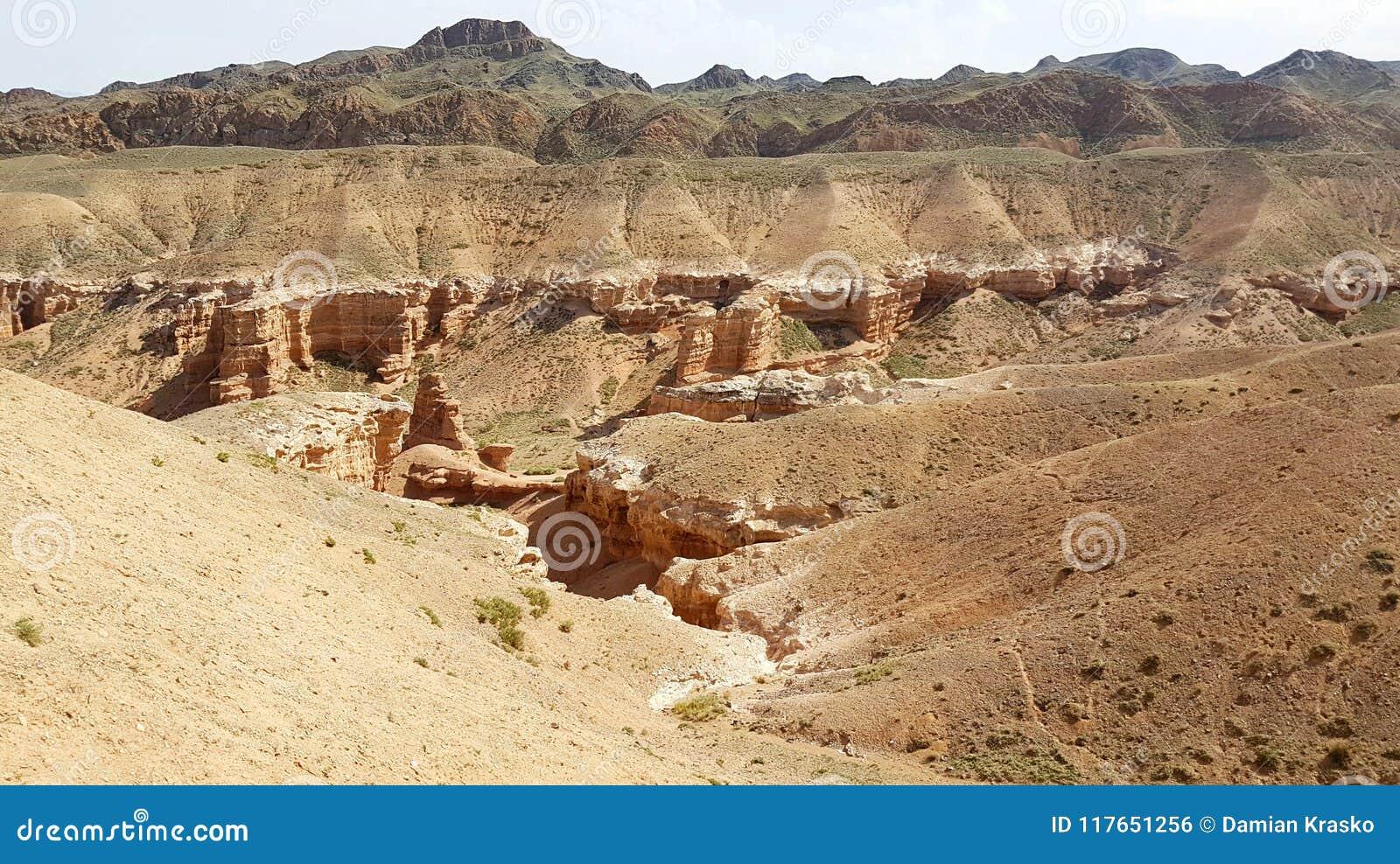 Charyn kanjon i Kasachstan
