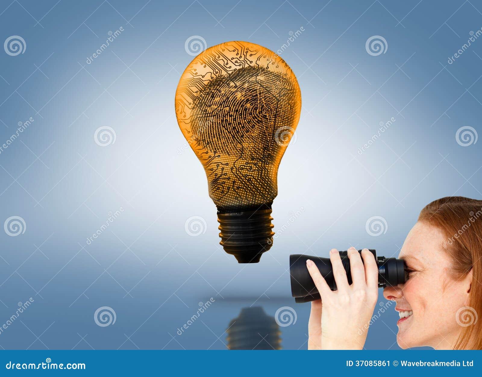 Download Charyzmatyczny Bizneswomanu Przepowiadania Przyszłości Sukces Obraz Stock - Obraz złożonej z zaciemnia, digitise: 37085861
