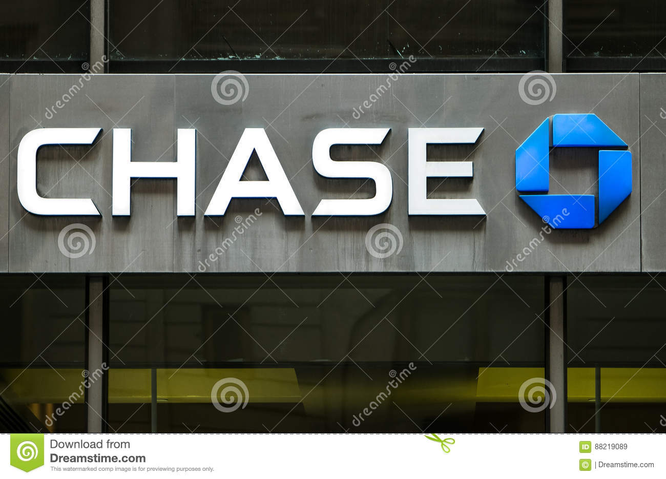 Chase Bank Branch Sign Editorial Stock Image Image Of Architecture