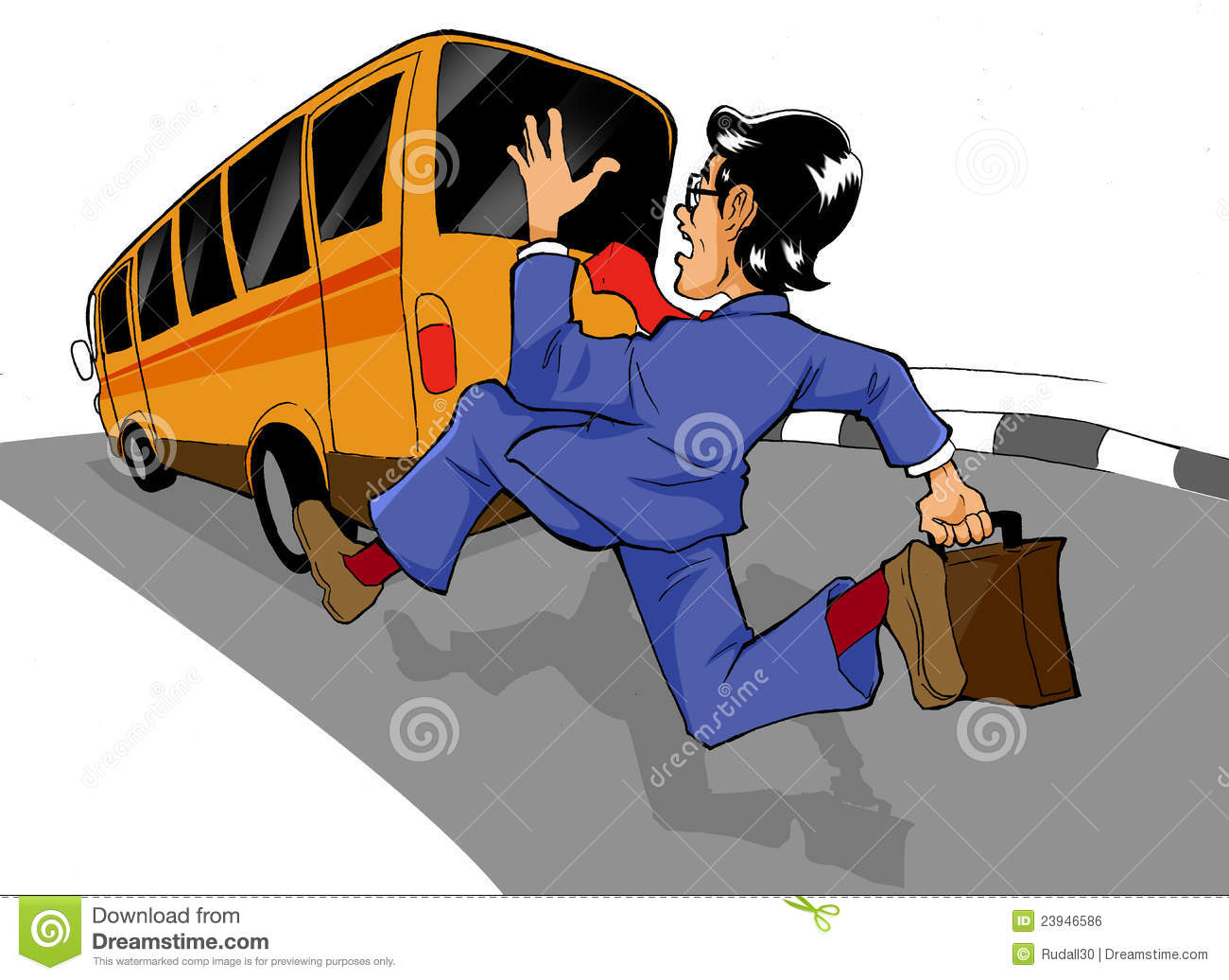 Chasing The Bus Royalty Free Stock Image - Image: 23946586