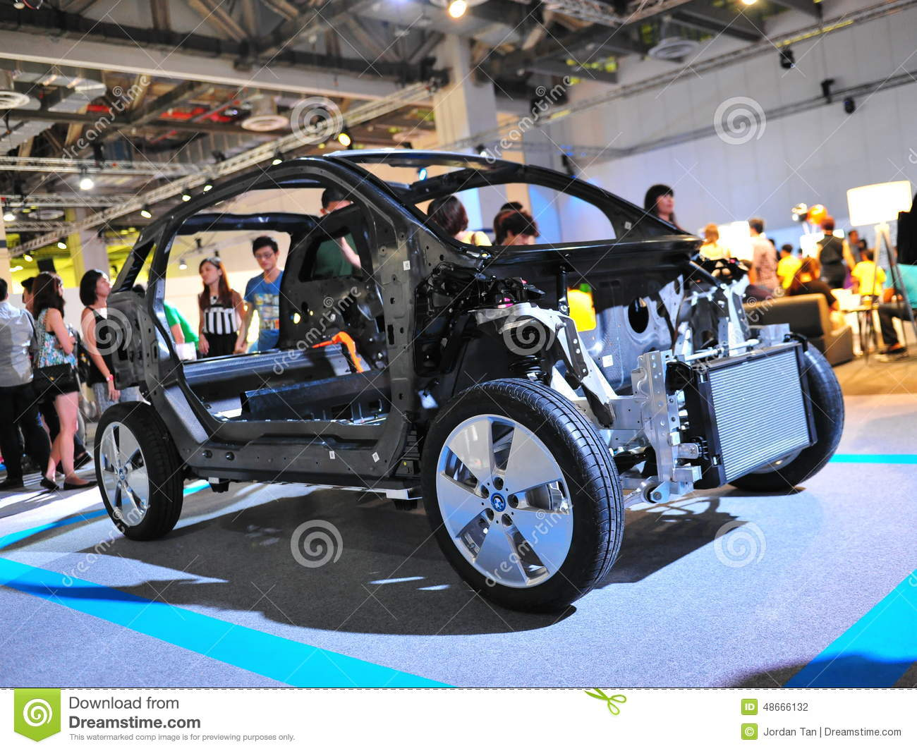 Chassis Of Bmw I3 Urban Electric Car On Display At Bmw World 2014