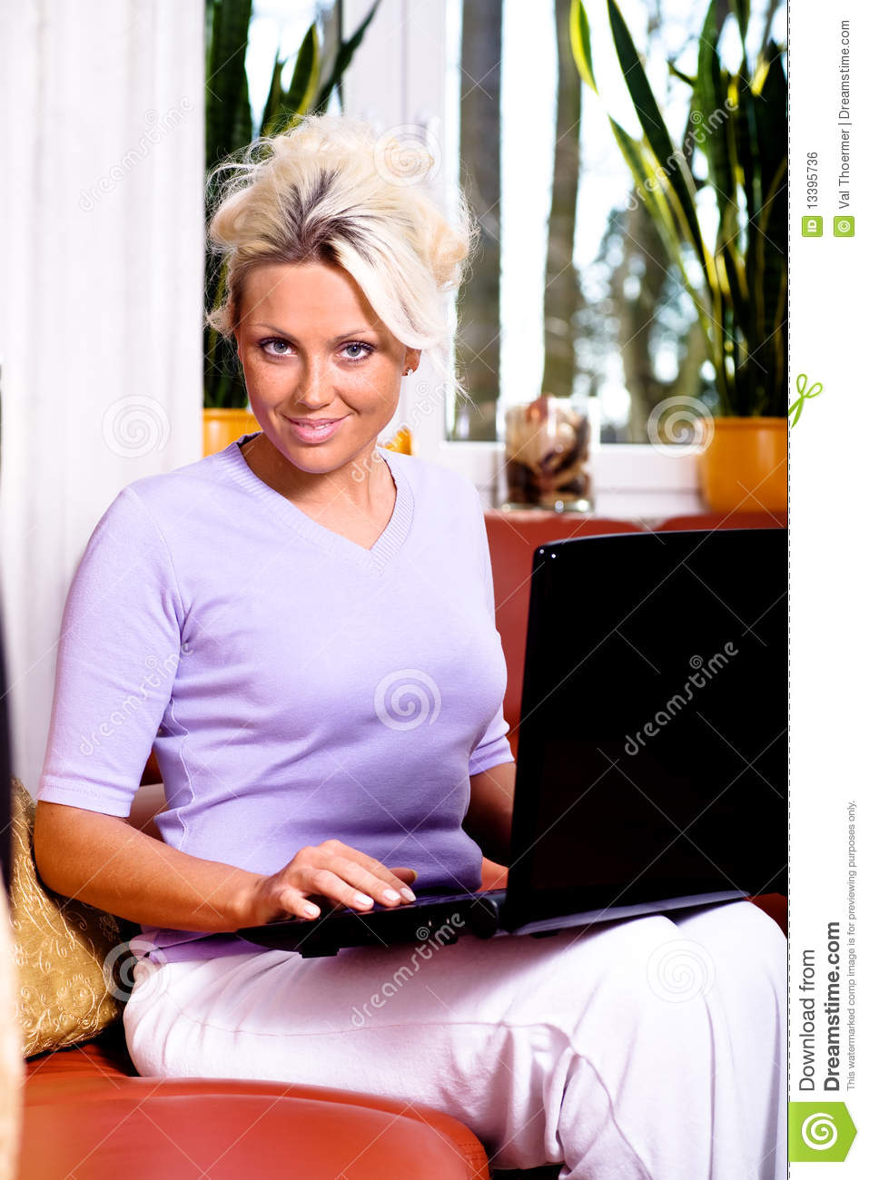 Chat girl stock photo. Image of adults, woman, interior