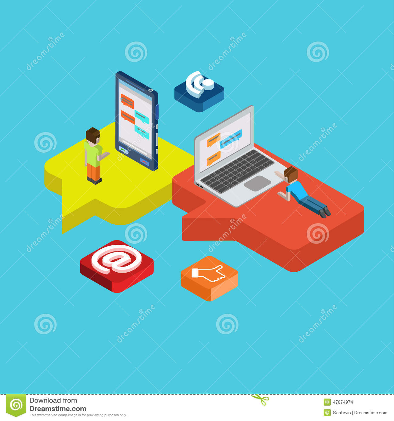 Computer desktop isometric flat icon 3d vector cartoon for 3d flat design online