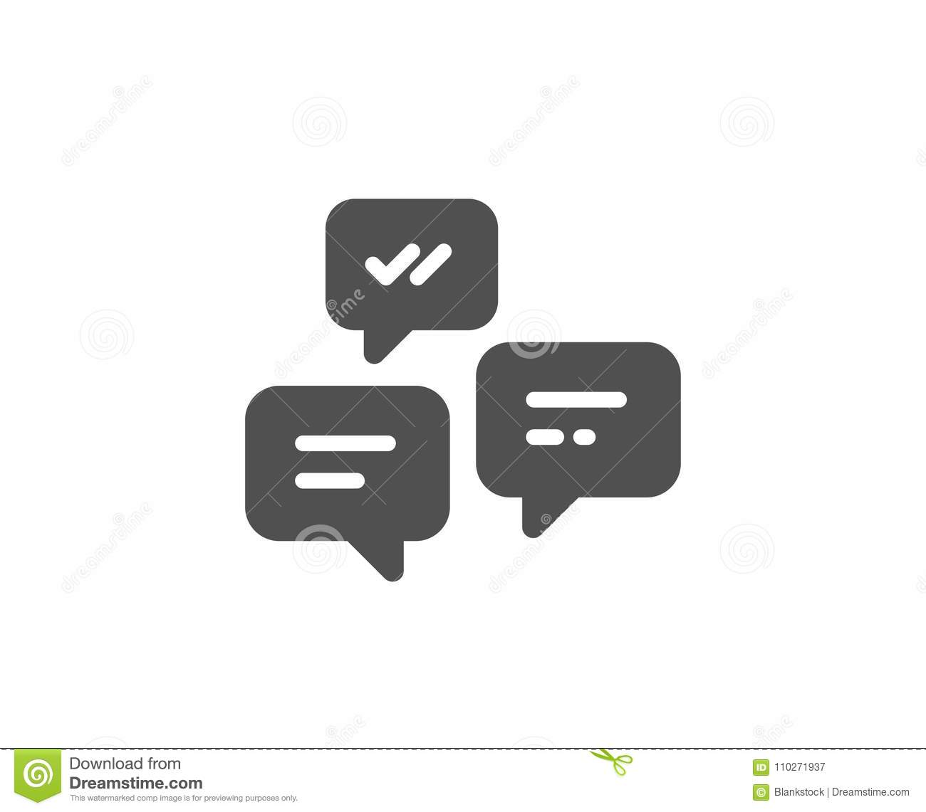 Chat Messages Simple Icon Conversation Or Sms Stock Vector