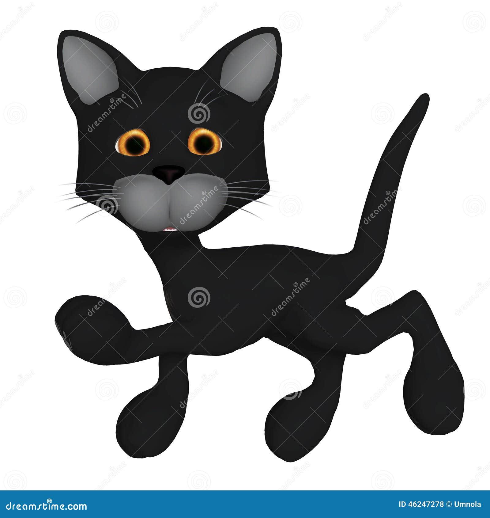 Chat noir de dessin anim illustration stock image du - Dessin chat noir ...