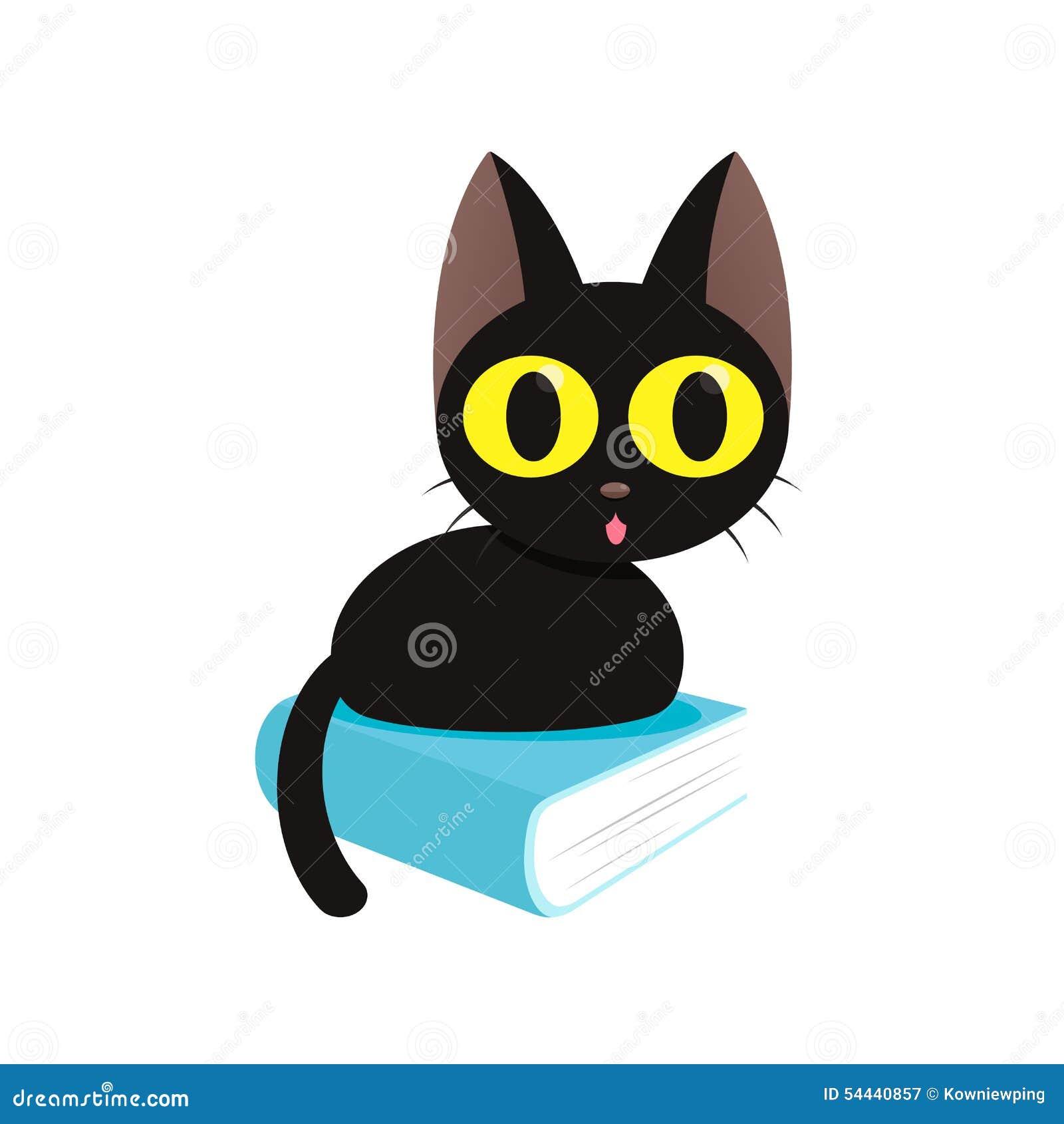 Coloriage Chat Noir Mignon Bondless