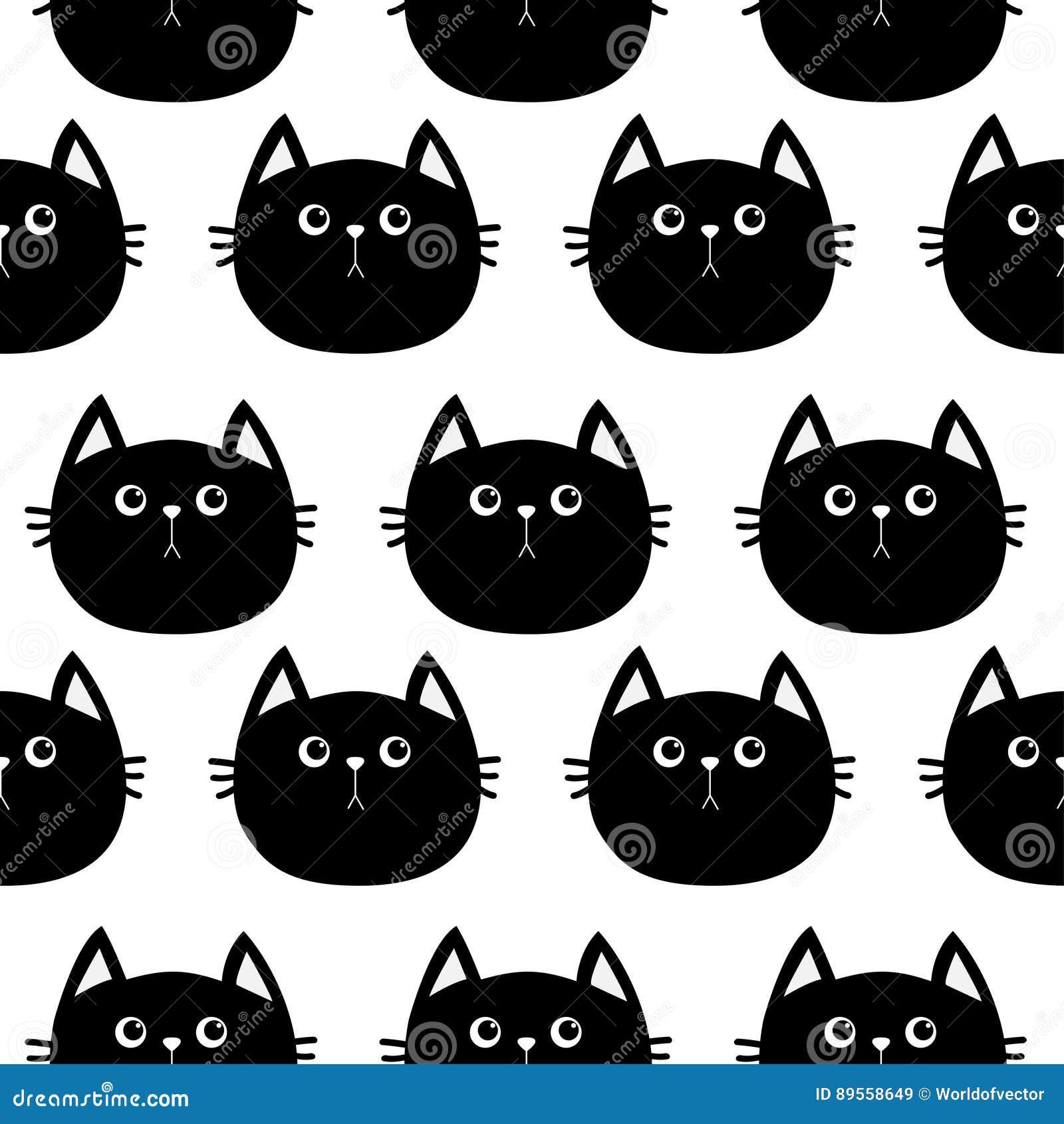 Chat Noir Personnage De Dessin Anime Mignon Collection D Animal