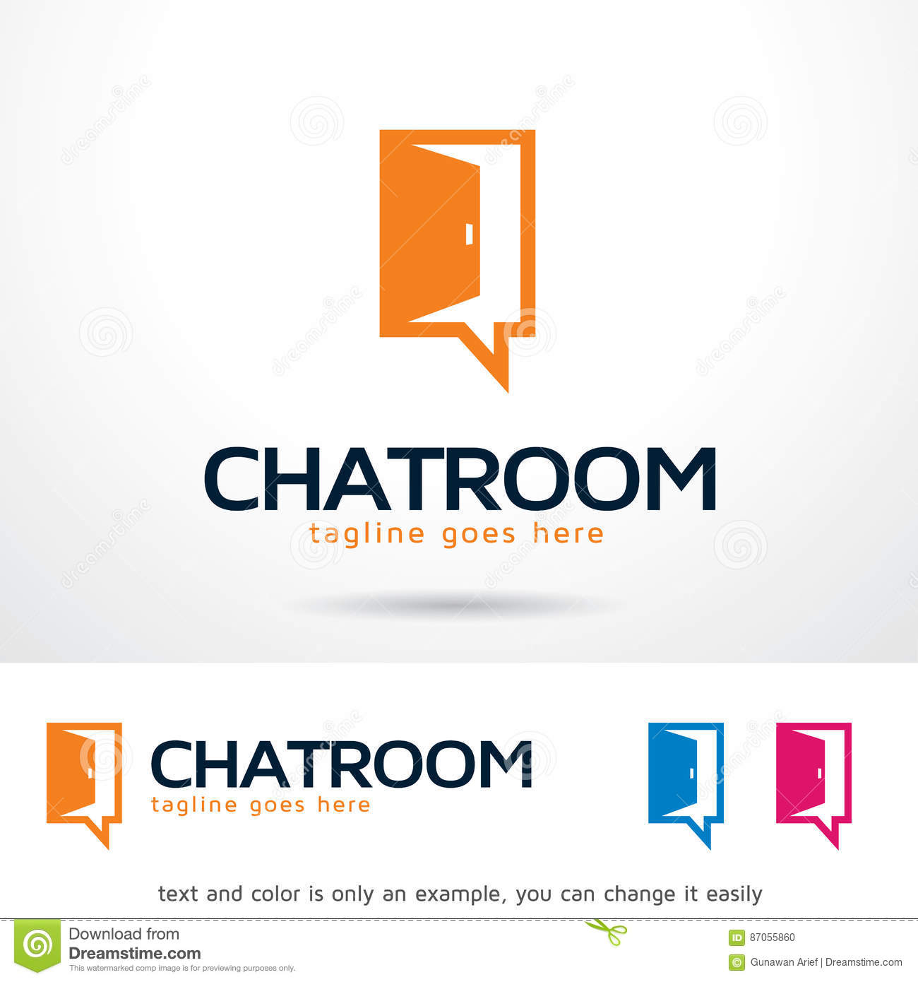 Chat Room Logo Template Design Vector Stock Vector - Illustration of ...