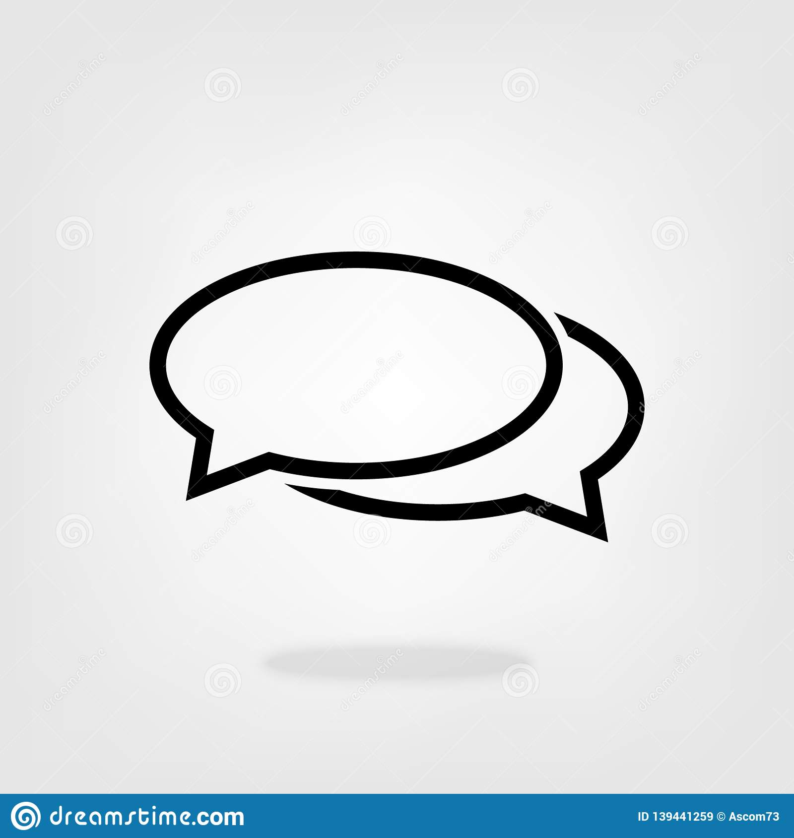 Chat, Speech, Bubble, Dialogue Vector Icon For Graphic