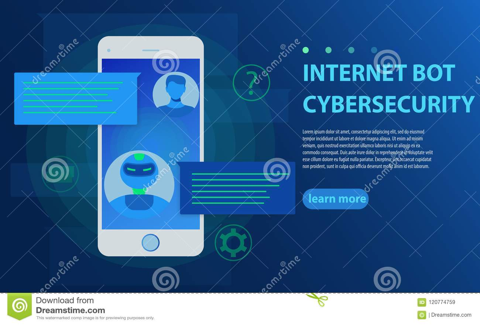 Chatbot e concetto futuro di vendita Persona che chiacchiera con il bot di chiacchierata nell illustrazione di vettore del telefo