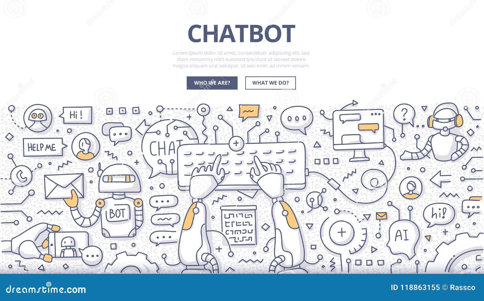 Chatbot-Gekritzel-Konzept