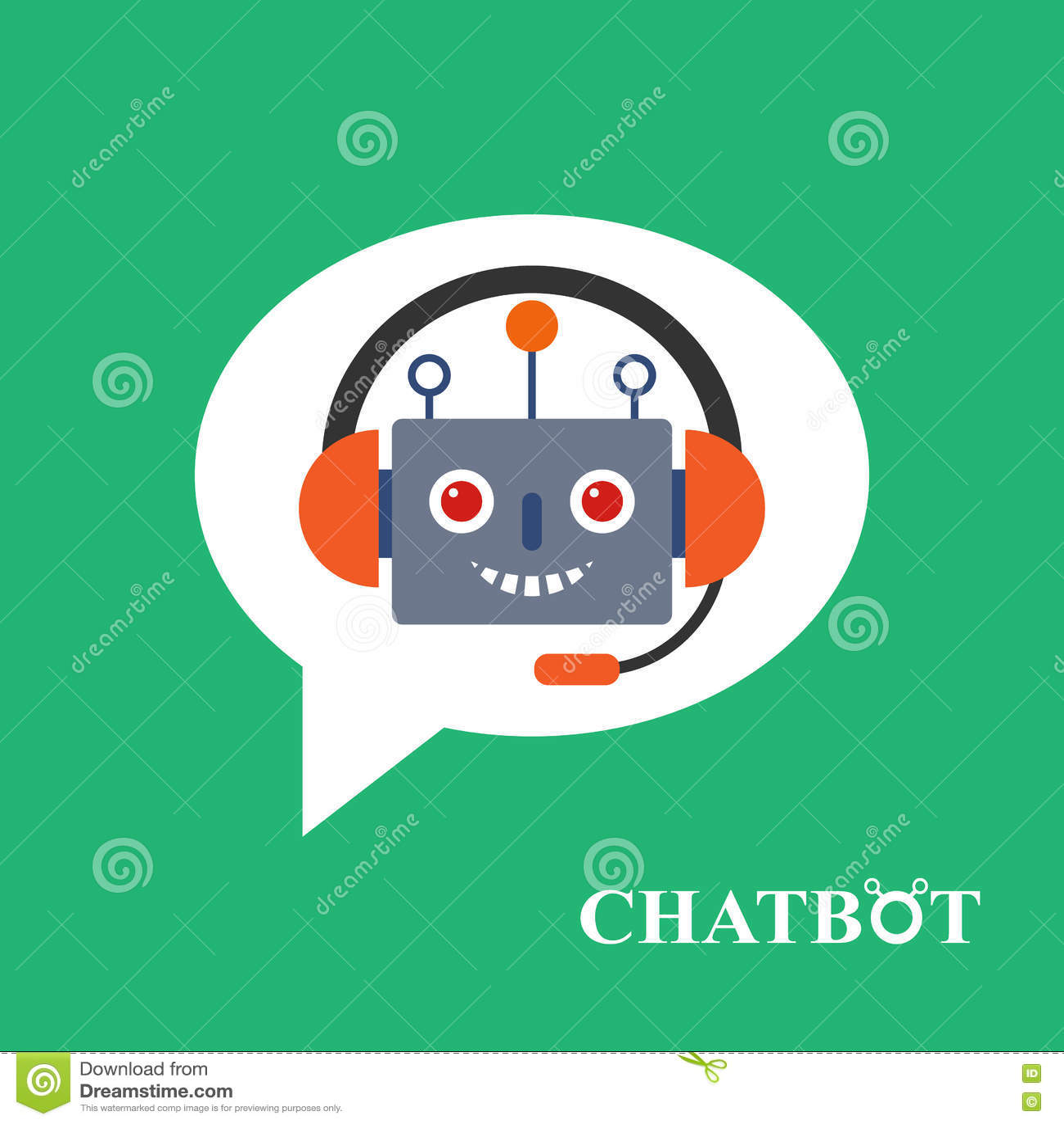 Chatbot icon concept