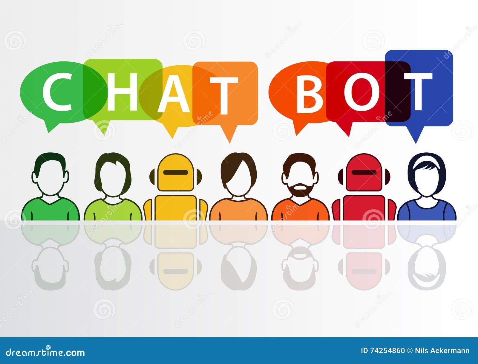 Chatbot infographic como o conceito para a inteligência artificial