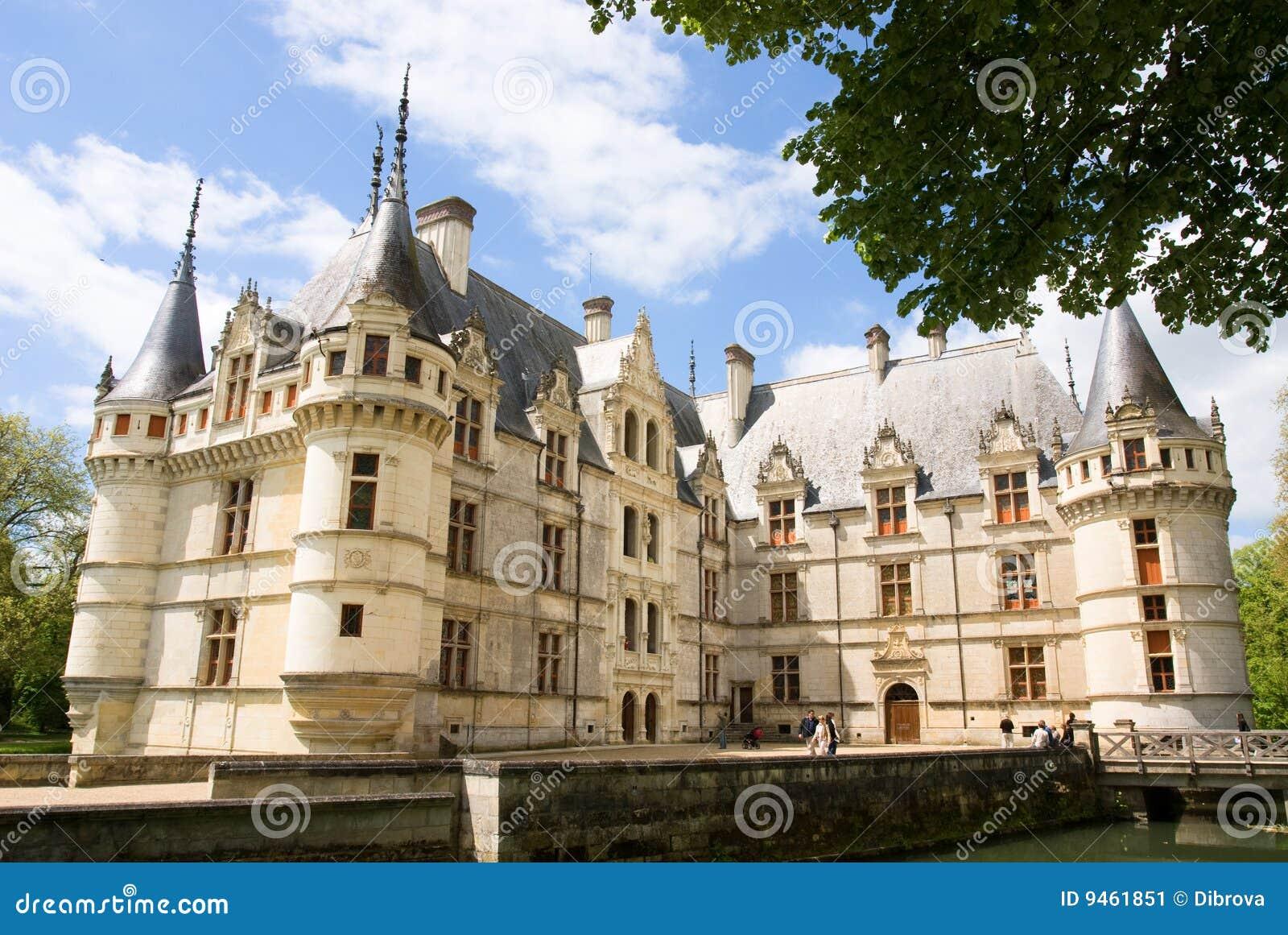 Chateau Azay Le Rideau Stock Image Image Of Tourist Renaissance