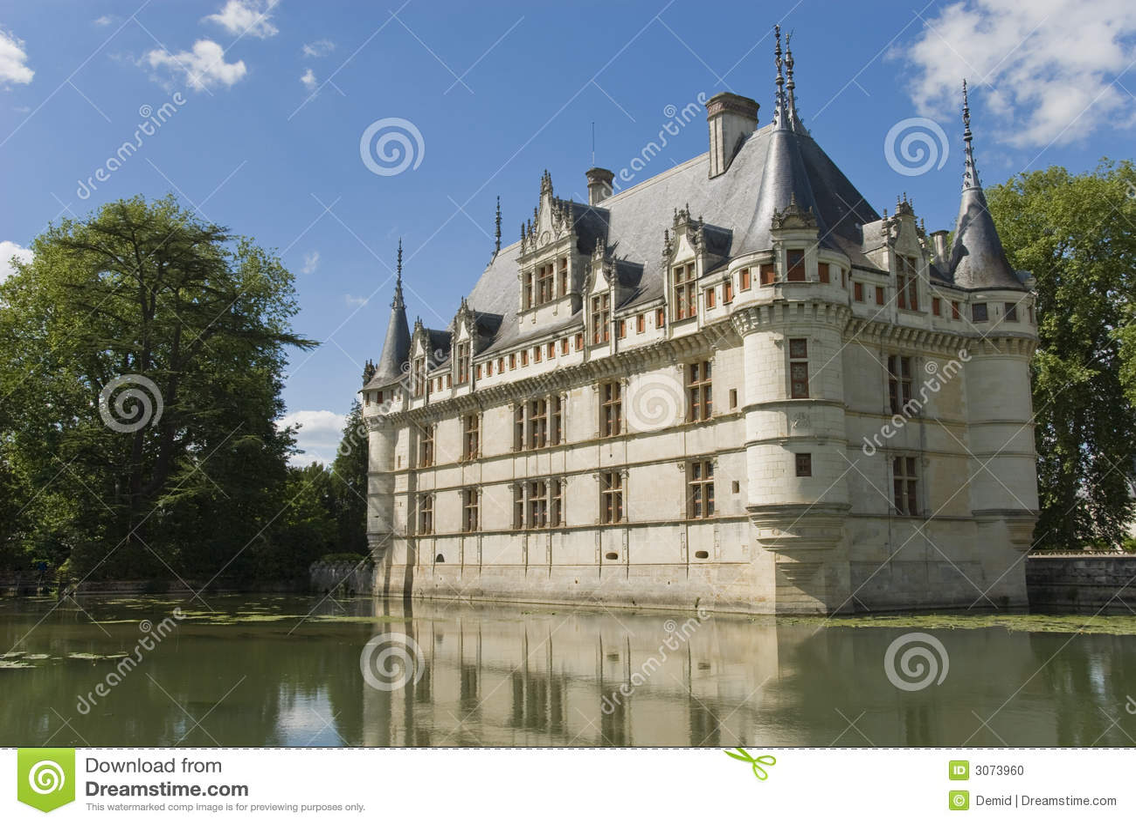 chateau azay le rideau france stock photo image 3073960. Black Bedroom Furniture Sets. Home Design Ideas