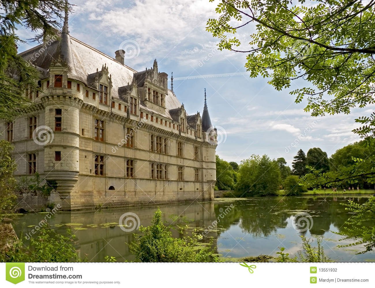 chateau d 39 azay le rideau stock photography image 13551932. Black Bedroom Furniture Sets. Home Design Ideas