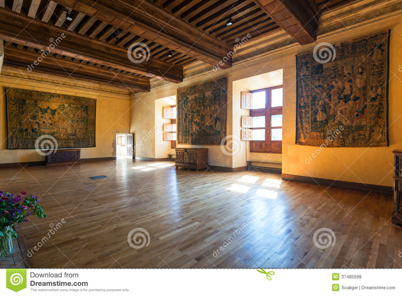Chateau de azay le rideau int rieur france photo stock for Interieur france