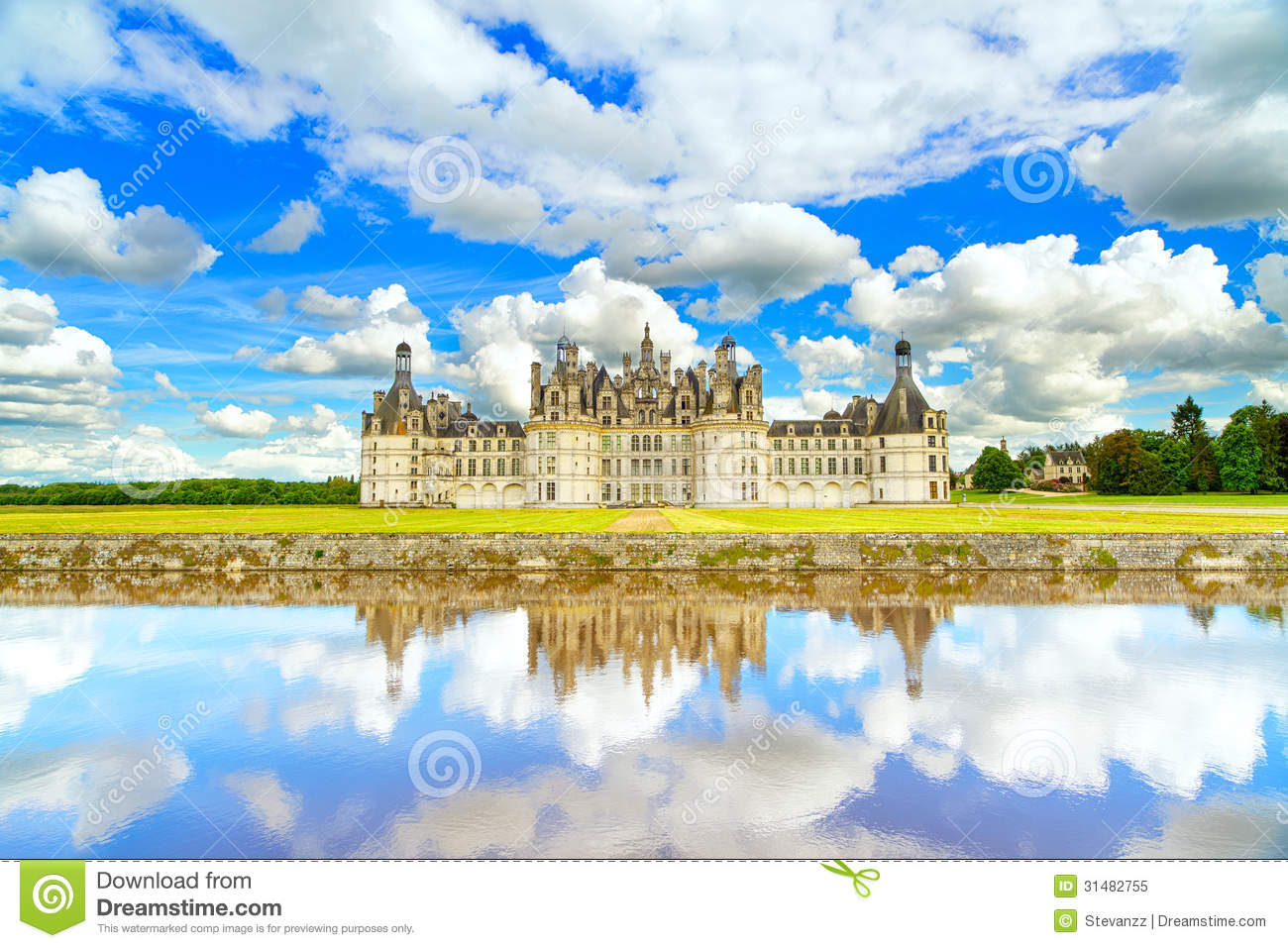 Chateau De Chambord Unesco Medieval French Castle And