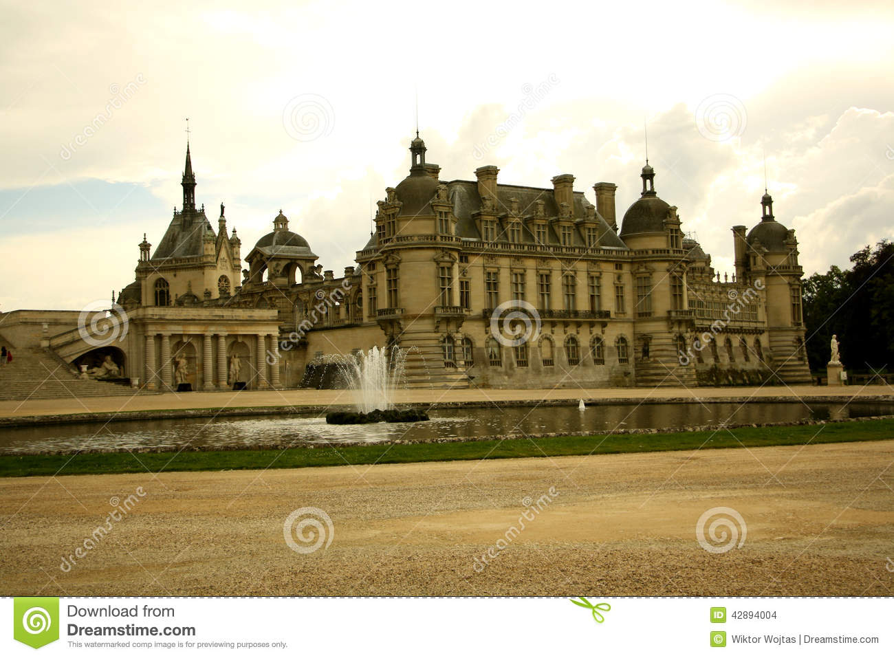chateau de chantilly france editorial stock image image. Black Bedroom Furniture Sets. Home Design Ideas