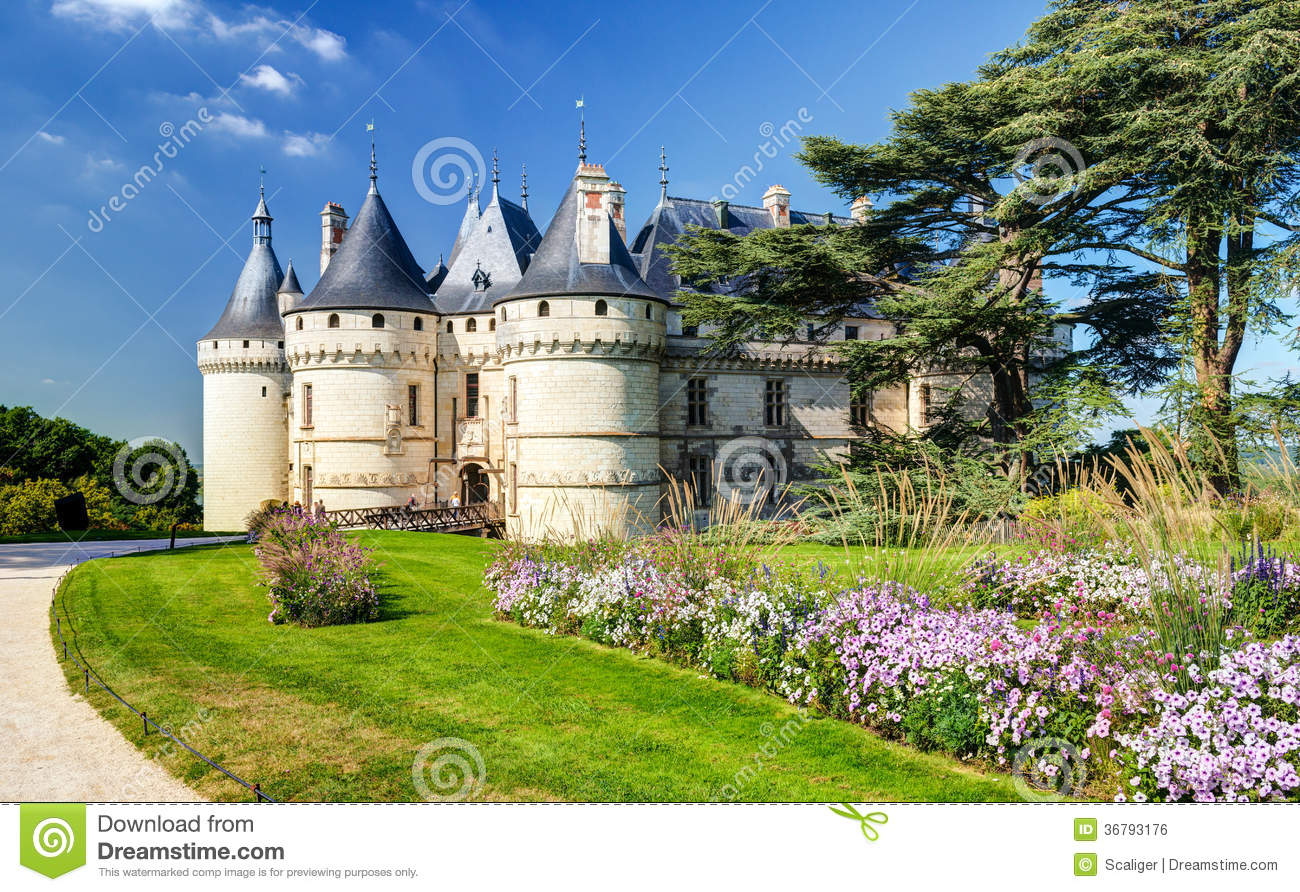 chateau de chaumont sur loire france stock photo 36793176. Black Bedroom Furniture Sets. Home Design Ideas