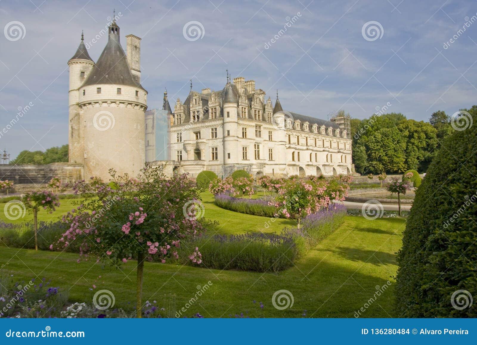 Chateau de Chenonceau i Frankrike