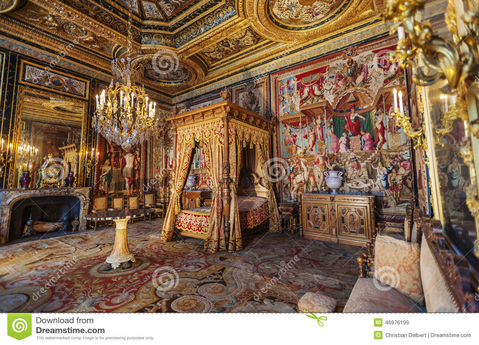 Queen Ann Slaapkamer : Chateau De Fontainebleau Bedroom