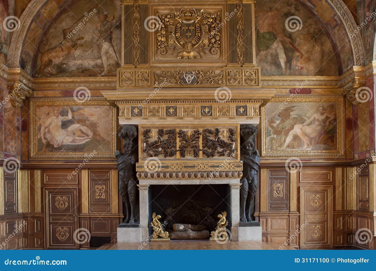 chateau de fontainebleau france interiors details editorial image image 31171100. Black Bedroom Furniture Sets. Home Design Ideas