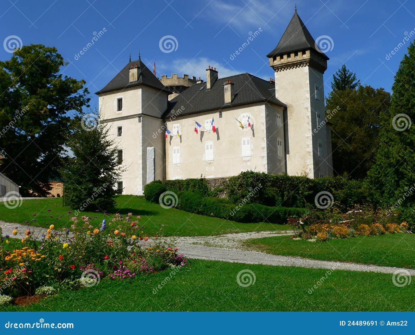 chateau de l echelle la roche sur foron france stock image image 24489691. Black Bedroom Furniture Sets. Home Design Ideas