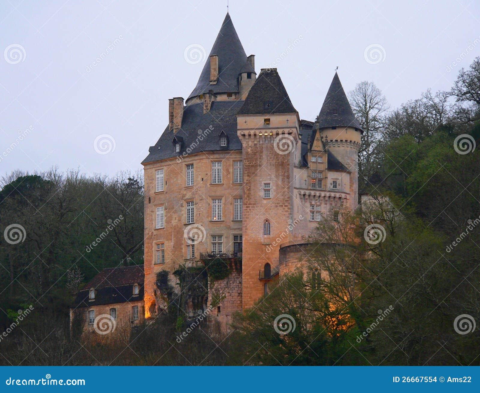 Chateau De La Roque Meyrals France Stock Images