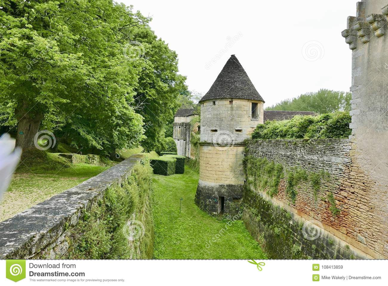 Chateau De Losse At Thonac In The Dordogne Stock Image Image Of Gardens Chateau 108413859