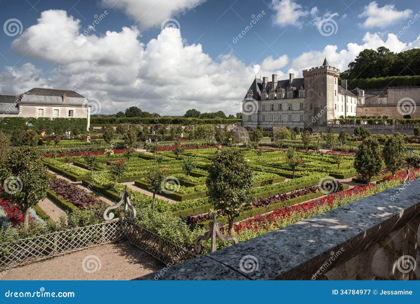 Chateau de Villandry in Loire Valley in France