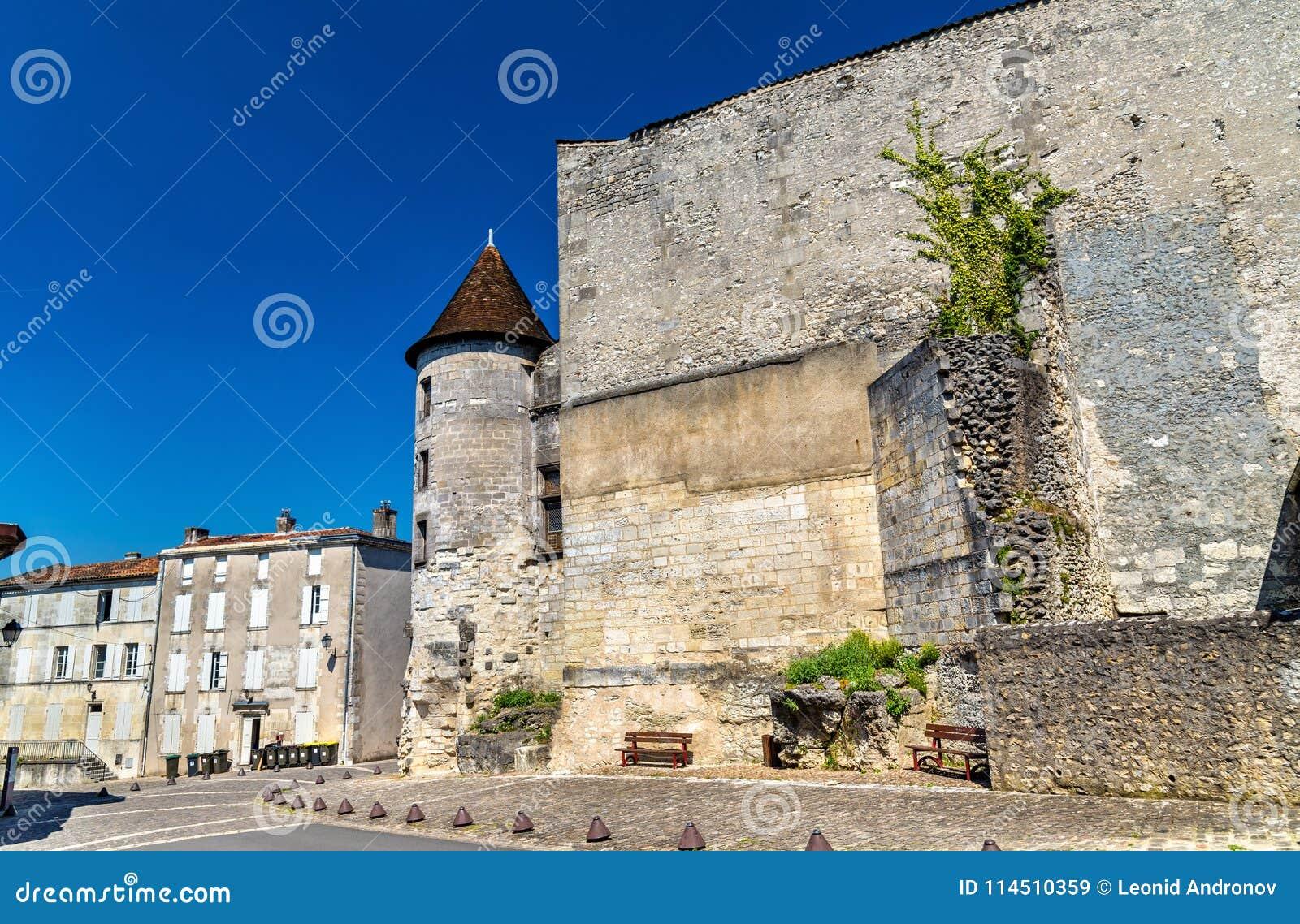 The Chateau des Valois, a medieval castle in Cognac, France