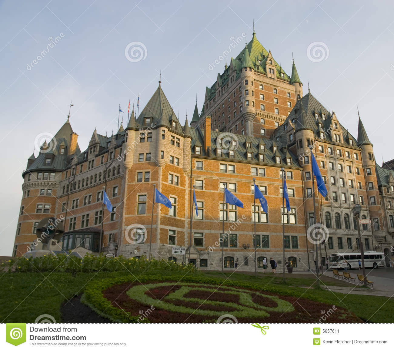 Chateau frontenac in quebec city canada stock image for Design hotel quebec city
