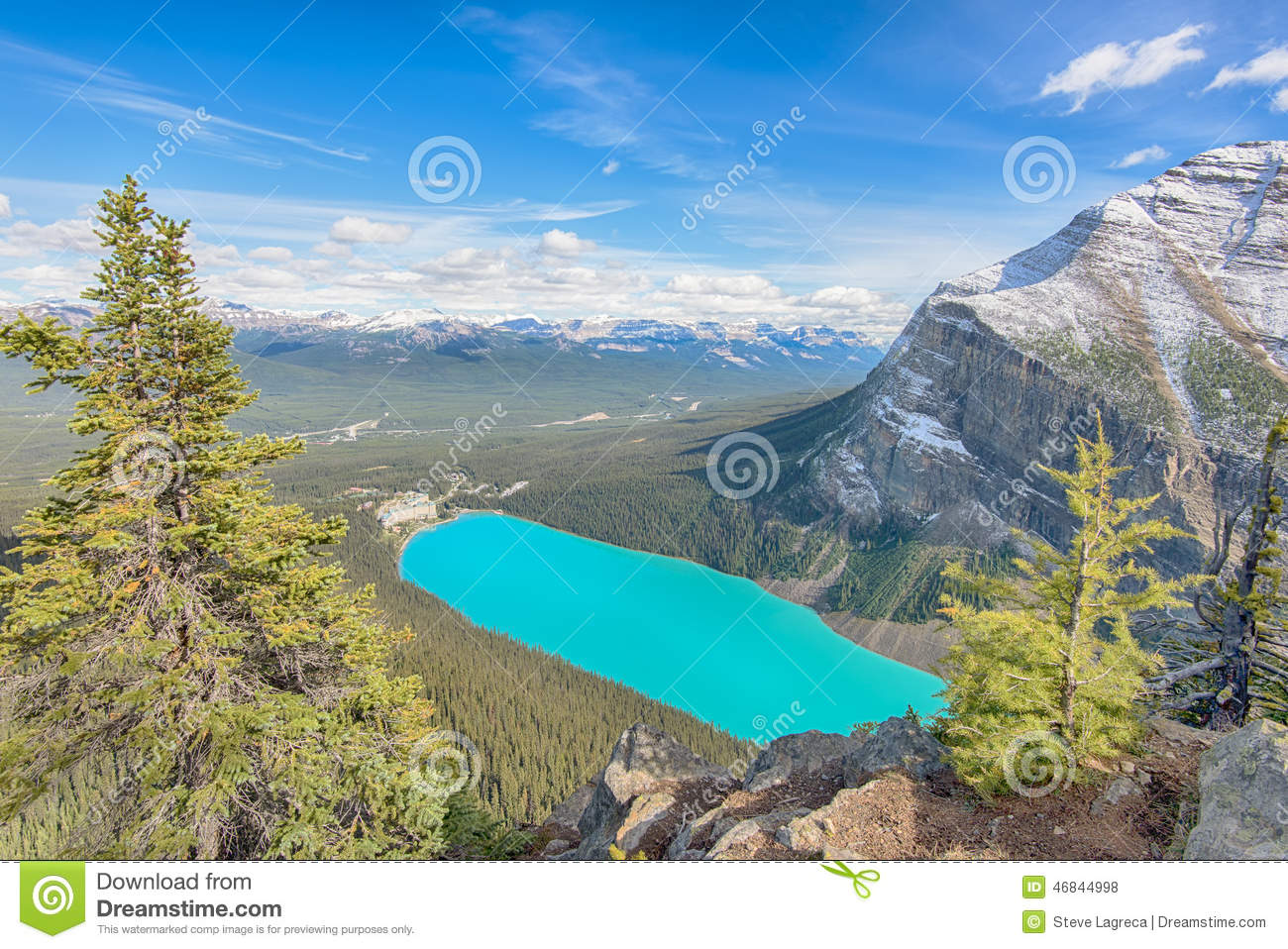 Chateau Lake Louise view from Big Beehive, Lake Louise Hamlet, Banff ... Beehive