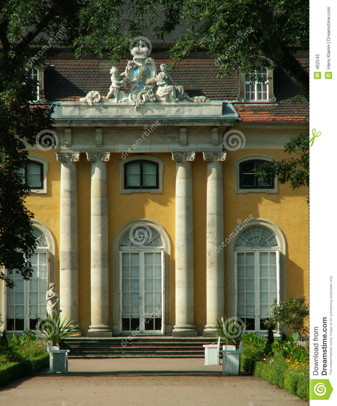 Download Chateau Mosigkau stock image. Image of mansard, ochre, arms - 462545