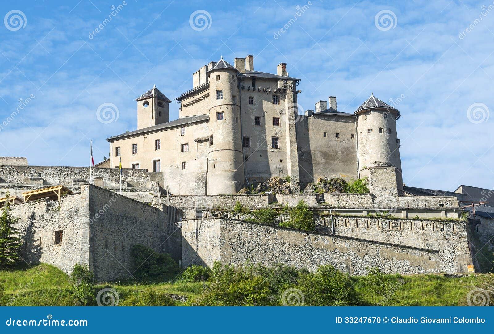 chateau queyras stock photo image 33247670. Black Bedroom Furniture Sets. Home Design Ideas