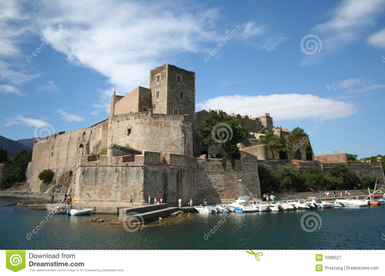 Chateau royal collioure france royalty free stock - Chateau royal collioure ...