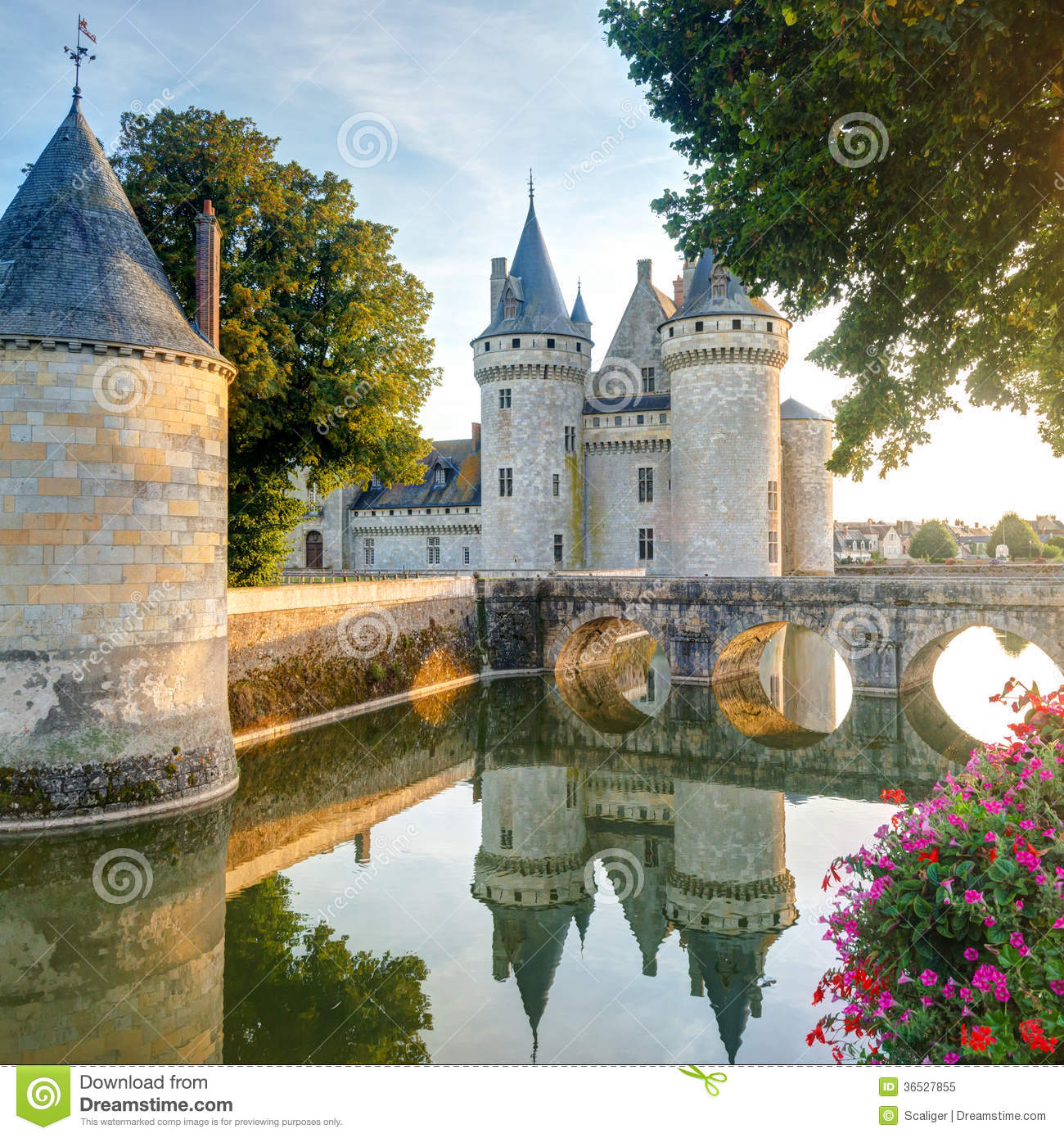 The chateau of sully sur loire france stock image image for Clair logis sully sur loire