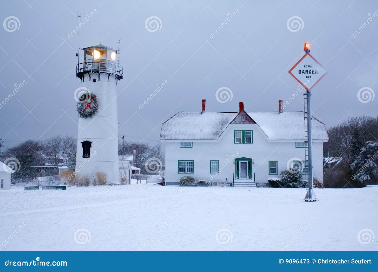 Chatham Leuchtturm im Winter