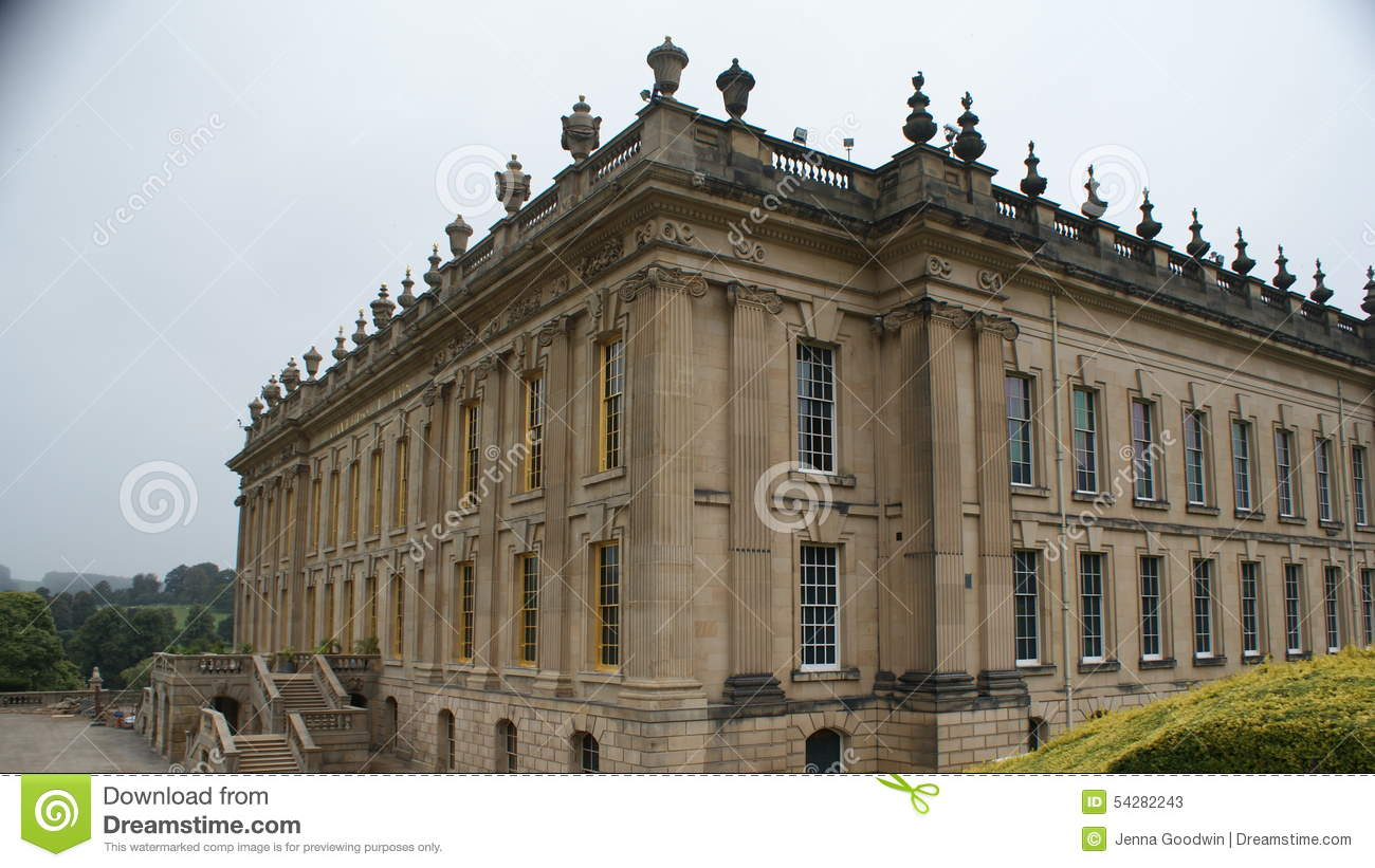 Chatsworth House editorial stock photo. Image of fountain - 54282243