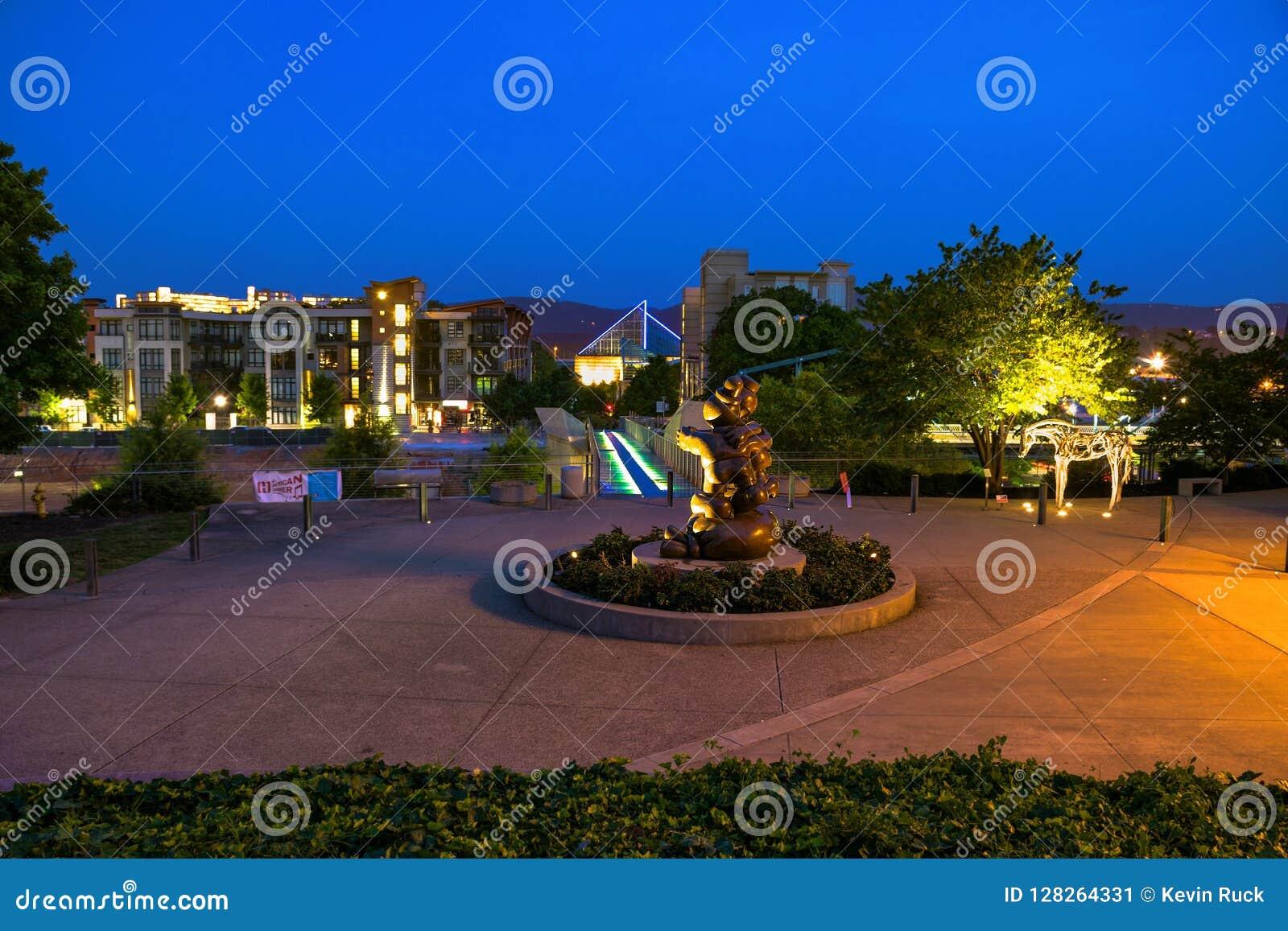 Chattanooga del centro, Tennessee, U.S.A.
