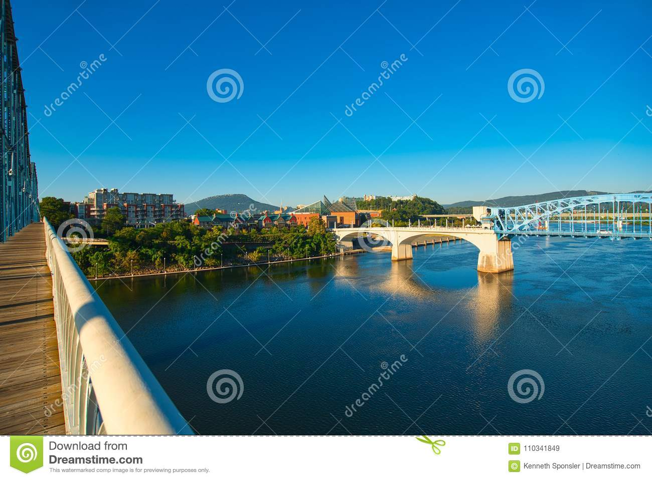 Chattanooga river view stock image  Image of outdoor - 110341849