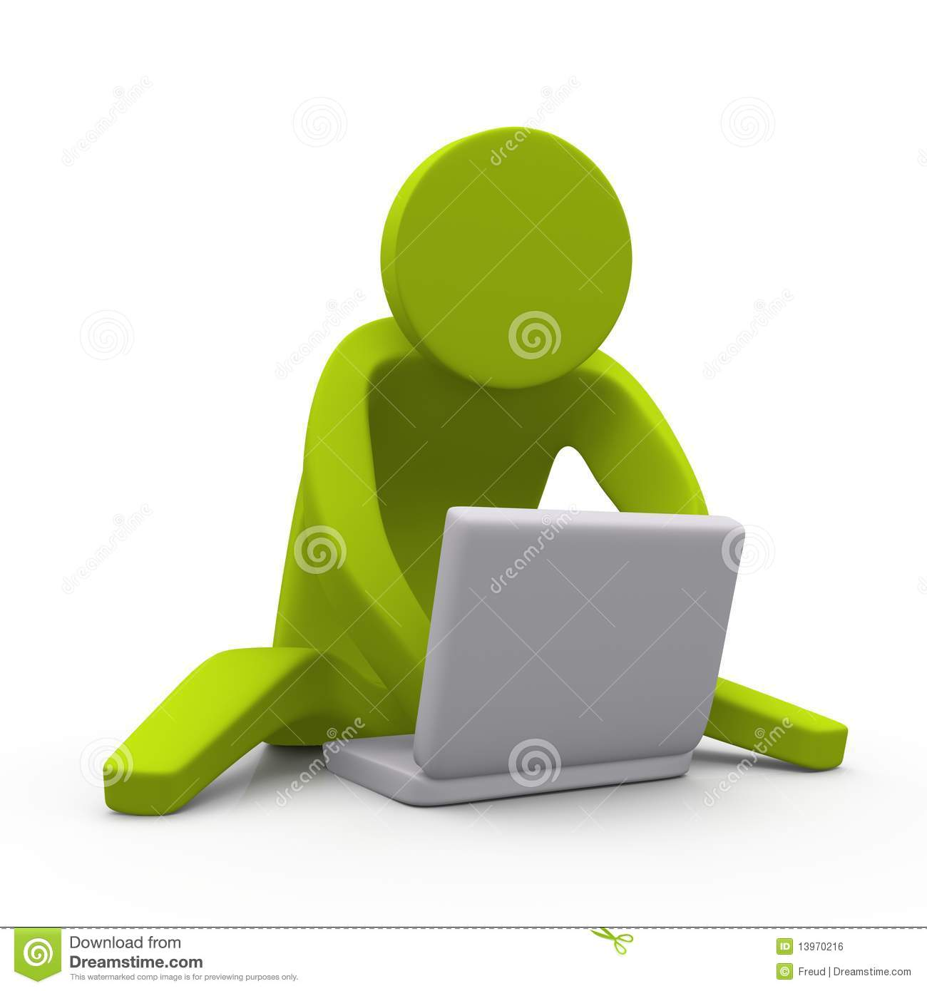 Chatting With Laptop Royalty Free Stock Image - Image: 13970216