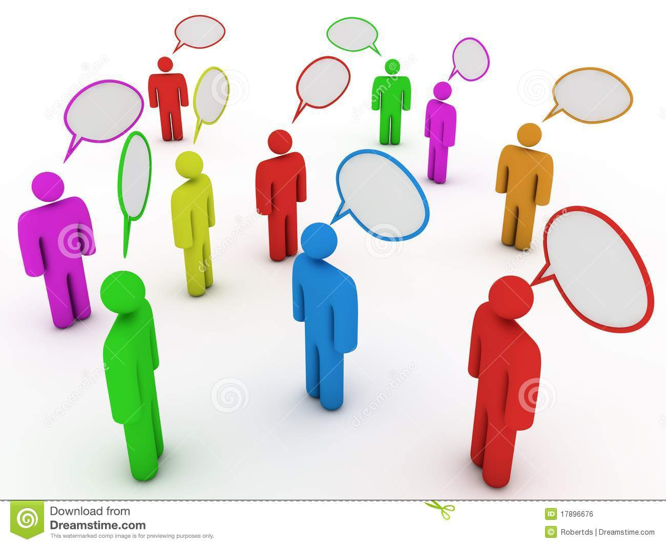 Chatting People With Speech Bubbles Royalty Free Stock
