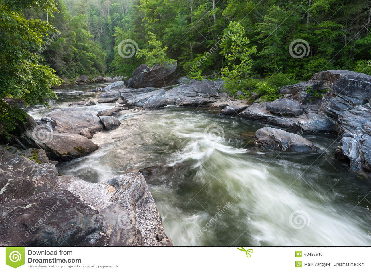 Commercial whitewater along section IV of the Wild & Scenic Chattooga ...
