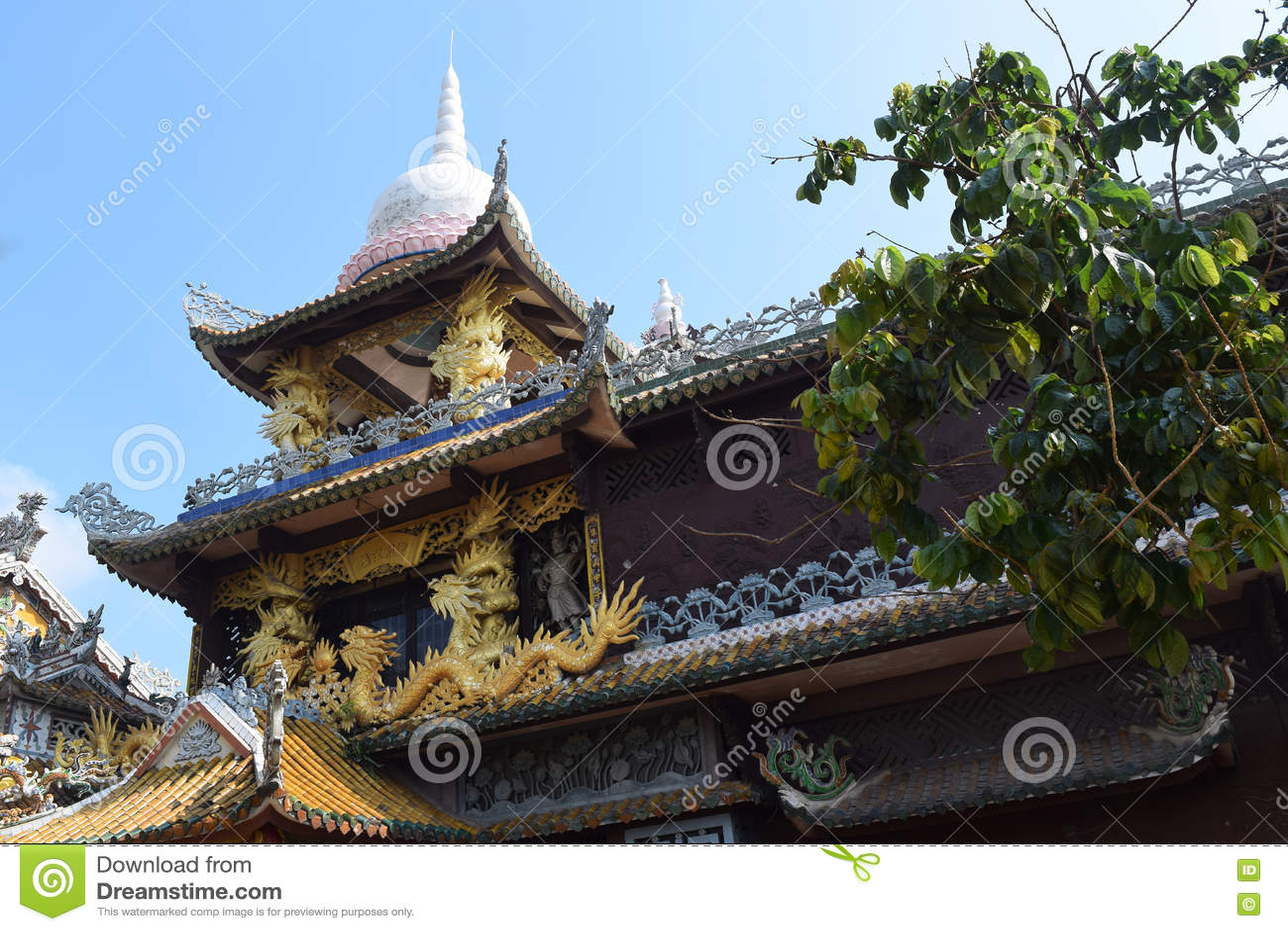 Chau Thoi świątynia w Binh Duong prowinci, Wietnam